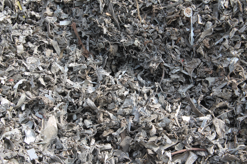 shredded-scrap-metal-to-recycle-stockton