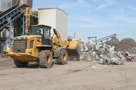 bulldozer-for-sorting-recyclables-stockton