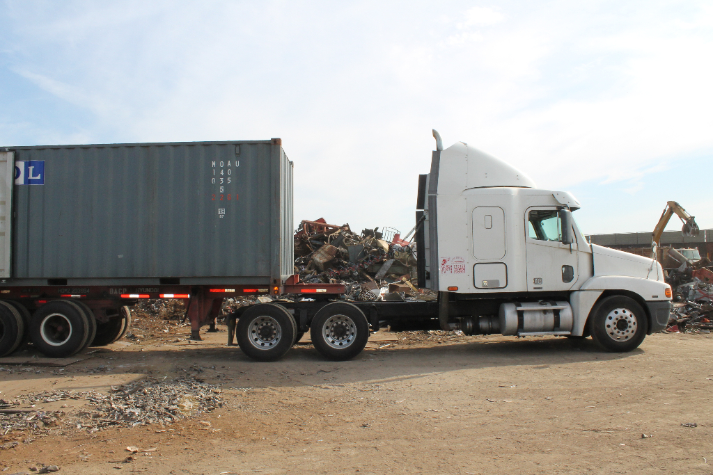 scrap-metal-truck-transport-recycling-stockton